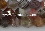 CAA1008 15.5 inches 8mm faceted nuggets botswana agate beads