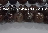 CAA1037 15.5 inches 8mm round dragon veins agate beads wholesale