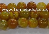 CAA1042 15.5 inches 8mm round dragon veins agate beads wholesale