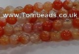 CAA1045 15.5 inches 4mm round dragon veins agate beads wholesale