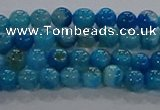 CAA1055 15.5 inches 4mm round dragon veins agate beads wholesale