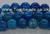 CAA1057 15.5 inches 8mm round dragon veins agate beads wholesale