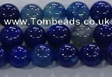 CAA1062 15.5 inches 8mm round dragon veins agate beads wholesale