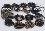 CAA1176 15.5 inches 25*35mm - 35*45mm freeform sakura agate beads