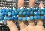 CAA1408 15.5 inches 8mm round matte druzy agate beads