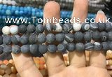 CAA1410 15.5 inches 8mm round matte druzy agate beads
