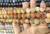 CAA1419 15.5 inches 10mm round matte druzy agate beads