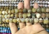 CAA1420 15.5 inches 10mm round matte druzy agate beads