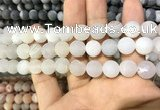 CAA1430 15.5 inches 12mm round matte druzy agate beads