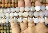 CAA1431 15.5 inches 12mm round matte druzy agate beads