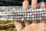 CAA1530 15.5 inches 4mm round banded agate beads wholesale
