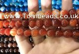 CAA1570 15.5 inches 12mm round banded agate beads wholesale