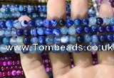CAA1579 15.5 inches 6mm round banded agate beads wholesale