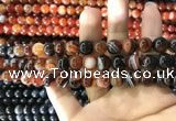 CAA1622 15.5 inches 8mm round banded agate beads wholesale