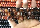 CAA1623 15.5 inches 10mm round banded agate beads wholesale
