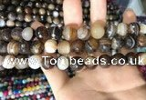CAA1638 15.5 inches 12mm faceted round banded agate beads