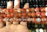 CAA1663 15.5 inches 12mm faceted round banded agate beads
