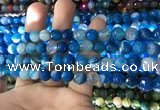 CAA1666 15.5 inches 8mm faceted round banded agate beads