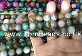 CAA1673 15.5 inches 12mm faceted round banded agate beads