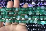 CAA1676 15.5 inches 8mm faceted round banded agate beads