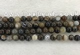 CAA1823 15.5 inches 10mm round banded agate gemstone beads
