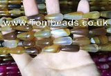 CAA2051 15.5 inches 8*20mm teardrop agate beads wholesale