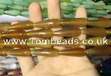 CAA2066 15.5 inches 10*30mm teardrop agate beads wholesale