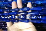 CAA2102 15.5 inches 10*30mm faceted teardrop agate beads