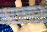 CAA2111 15.5 inches 10*14mm drum agate beads wholesale