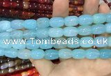 CAA2121 15.5 inches 10*14mm drum agate beads wholesale