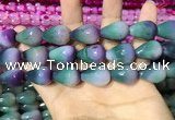 CAA2164 15.5 inches 15*20mm faceted teardrop agate beads