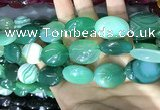 CAA2182 15.5 inches 18*25mm oval banded agate beads wholesale