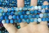 CAA2252 15.5 inches 10mm faceted round banded agate beads