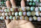 CAA2267 15.5 inches 12mm faceted round banded agate beads