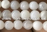 CAA2340 15.5 inches 4mm round white crazy lace agate beads wholesale