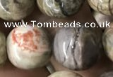 CAA2375 15.5 inches 14mm round ocean agate beads wholesale