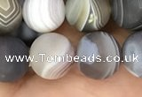 CAA2394 15.5 inches 10mm round matte Botswana agate beads wholesale