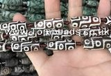 CAA2692 15.5 inches 12*30mm - 14*30mm rice tibetan agate dzi beads
