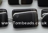 CAA273 15.5 inches 20*40mm rectangle black line agate beads