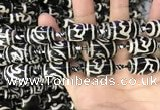 CAA2736 15.5 inches 14*21mm - 16*22mm drum tibetan agate dzi beads