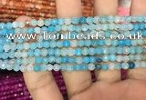 CAA2842 15 inches 4mm faceted round fire crackle agate beads wholesale