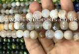 CAA3072 15 inches 10mm faceted round fire crackle agate beads wholesale
