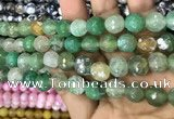 CAA3077 15 inches 10mm faceted round fire crackle agate beads wholesale
