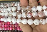 CAA3082 15 inches 10mm faceted round fire crackle agate beads wholesale