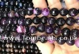 CAA3096 15 inches 10mm faceted round fire crackle agate beads wholesale