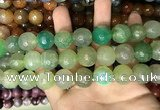 CAA3239 15 inches 16mm faceted round fire crackle agate beads wholesale