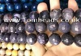 CAA3242 15 inches 16mm faceted round fire crackle agate beads wholesale