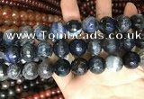 CAA3245 15 inches 16mm faceted round fire crackle agate beads wholesale
