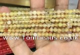 CAA3262 15 inches 4mm faceted round agate beads wholesale