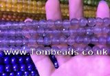 CAA3330 15 inches 8mm faceted round agate beads wholesale